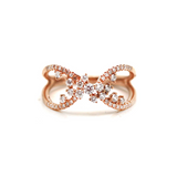 Diamond Crossover  Ring in 18k Rose Gold