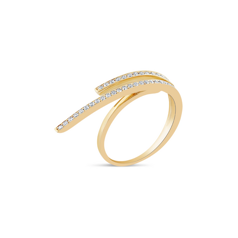 Diamond Ring In 18K Yellow Gold