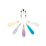 Gemstone Interchangeable Drops in 18k Gold