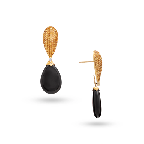 Interchangeable Drop Earrings in 18k Gold