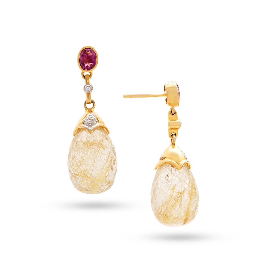 Interchangeable Baroque Drop Earrings in 18k Gold
