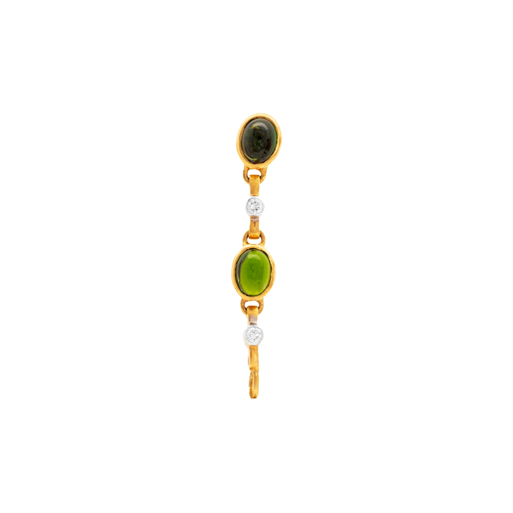 Gemstone and Diamond Interchangeable Top in 18K Gold