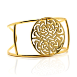 18k Yellow Gold Signature Logo Cuff