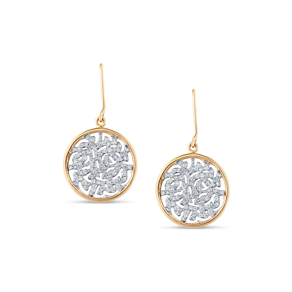 Signature Logo Diamond Earrings 18k Gold