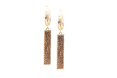 Lattice Dangling Earrings in 18k Rose Gold