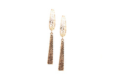 Lattice Dangle Earrings in 18k RG