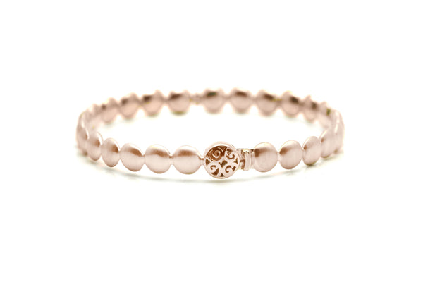 Lente Bangle in 18k Rose Gold With Satin Finish