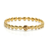 Lente Bangle in 18k Gold With Satin Finish