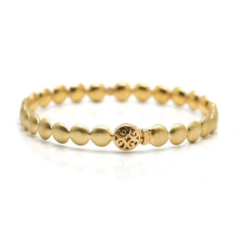 Lente Bangle in 18k Yellow Gold With Satin Finish