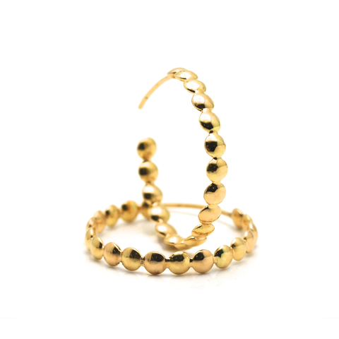 Lente Hoop Earrings in 18k Yellow Gold