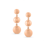 Lente Three Tier Earrings in 18K Gold