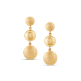 Lente 3 Tier Earrings in 18K Yellow Gold With Satin and Shiny Finish