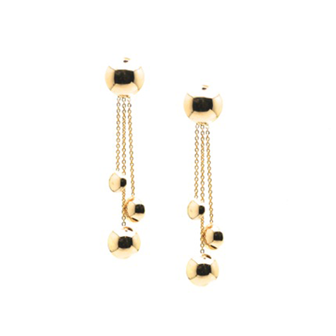 Lente Earrings In 18k Yellow Gold