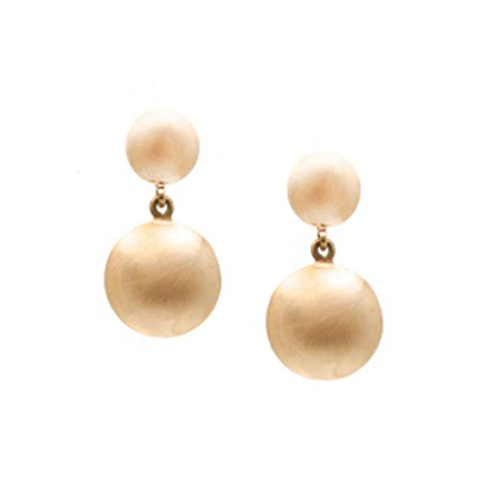 Lente Two Tier Earrings in 18k Gold