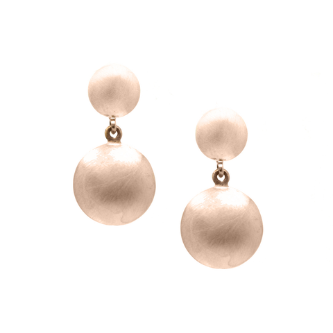 Lente 2 Tier Earrings in 18k Rose Gold