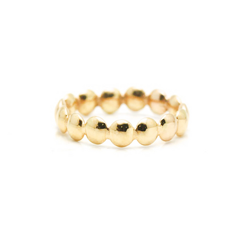 Lente Ring in 18k Gold With Satin Finish