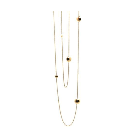 Pave Diamond Lente 36'' Long Necklace in 18 Yellow Gold