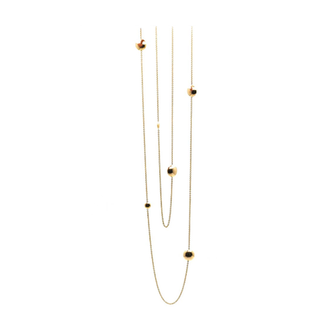 Lente 36'' Long Necklace in 18 Yellow Gold