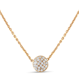 Lente Necklace With Diamond in 18K Gold