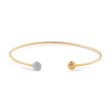 18k Yellow Gold Bangle Bracelet with Diamond