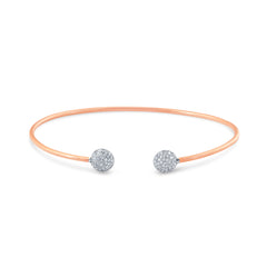 18K Rose Gold Lente Bangle With Diamond