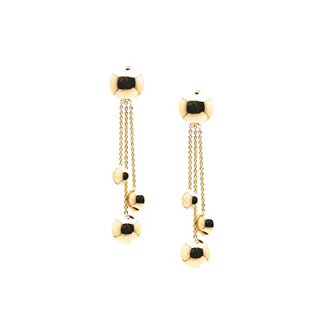 Lente Earrings in 18k Yellow Gold With Shiny Finish