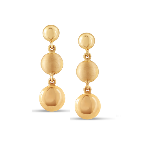 Lente 3 Tier Earrings in 18K Yellow Gold