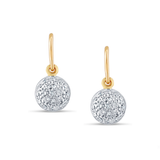 Diamond Lente Dangle Earrings in 18k Gold