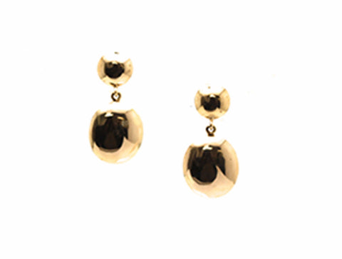 18k Yellow Gold 2 Tier Lente Earrings