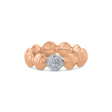 Lente ring with diamond accent in 18k Rose Gold