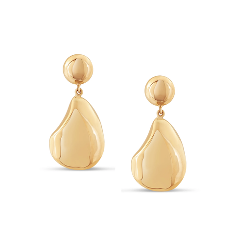 Lente unshaped earring in 18k Yellow Gold