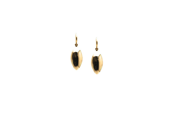 Lente Marquise Earring In 18k Yellow Gold