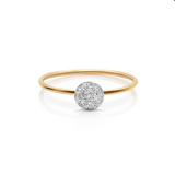 Diamond Lente Ring In 18K White Gold