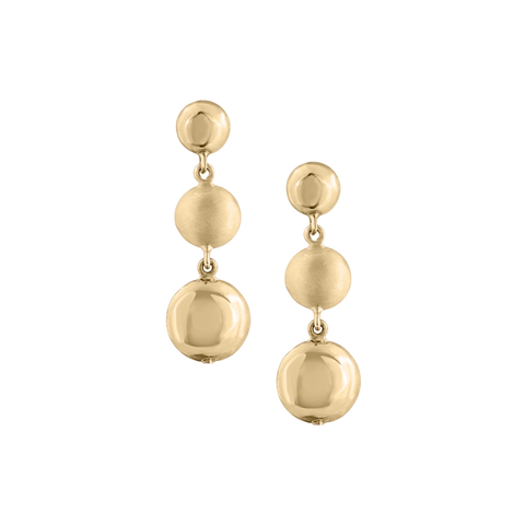 Lente Two Tier Earrings in 18k Yellow Gold