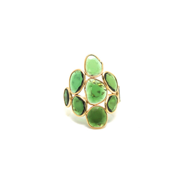 Tsavorite Garnet Ring in 18k YG