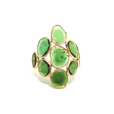 Chrome Diopside Mosaico Ring In 18K Yellow Gold