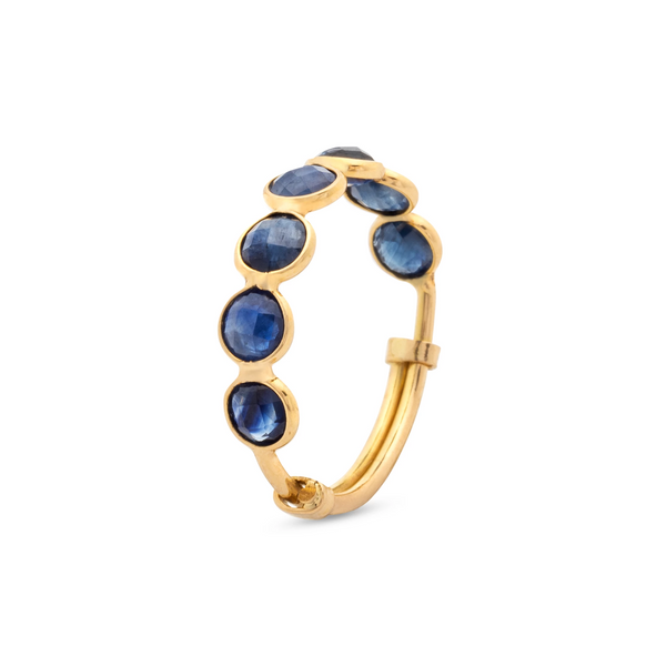 Gemstone Stackable Faceted Round Ring In 18K Yellow Gold
