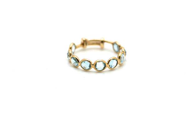 Gemstone Stackable Ring Band in 18K Yellow Gold