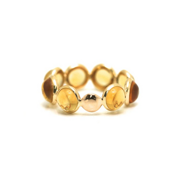 Citrine Stackable Ring Band in 18K Yellow Gold