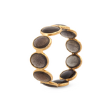 Gemstone Stackable Cabochon Oval Ring in 18K Yellow Gold