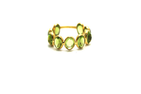 Peridot Stackable Ring Band in 18K Yellow Gold