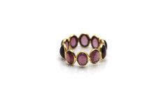 Rhodolite Stackable Ring Bands In 18k Yellow Gold