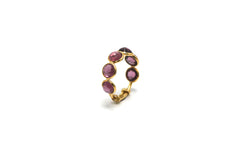 Rhodolite Garnet Ring Band in 18k Yellow Gold