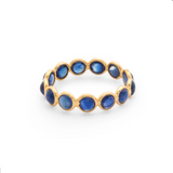 Gemstone Eternity Stackable Ring in 18k Yellow Gold
