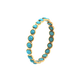 Gemstone Eternity Round Stackable Ring in 18K Yellow Gold