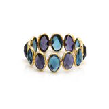 Gemstone Ring Band in 18k Yellow Gold