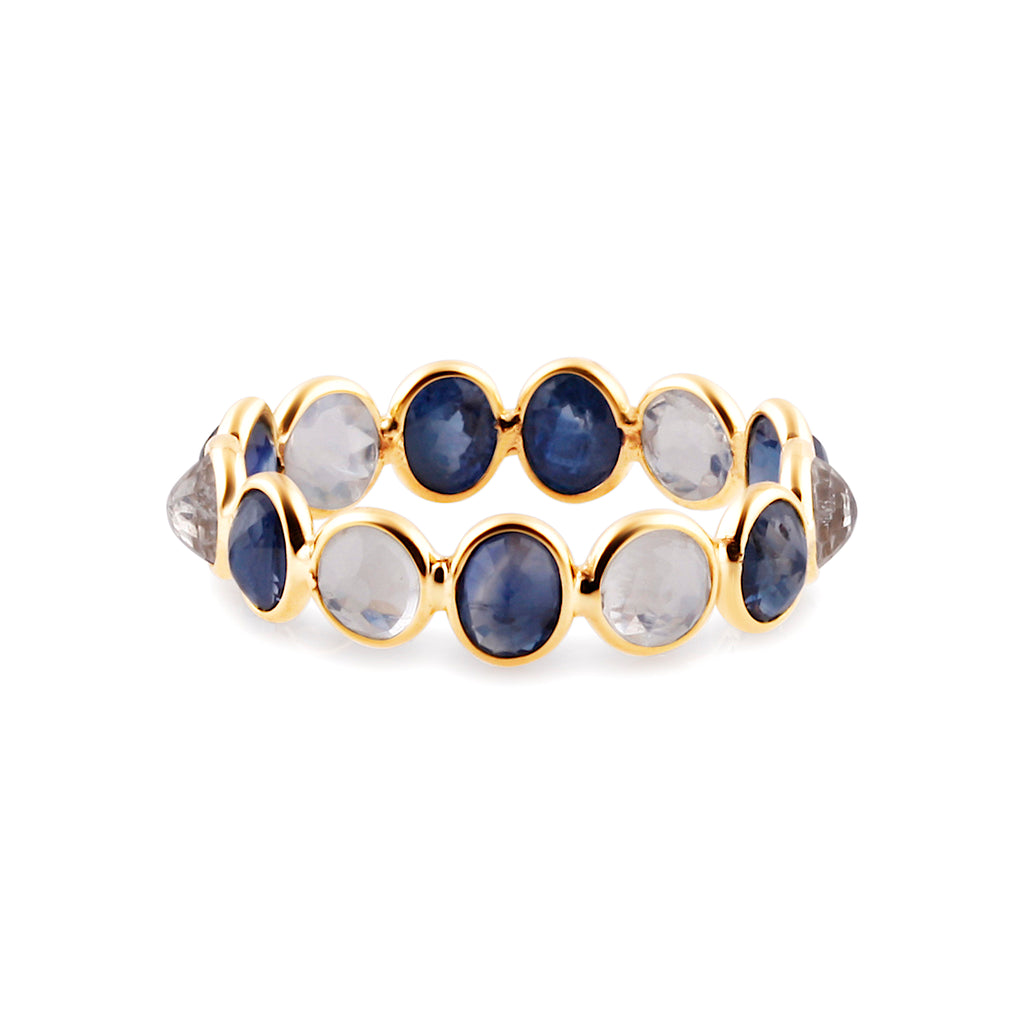 Multicolor Stone Ring in 18k Yellow Gold