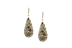 Oraganic Diamond Briolette Earrings In 18k Yellow Gold