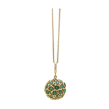 Gemstone Sphere Ball Pendant in 18k Yellow Gold