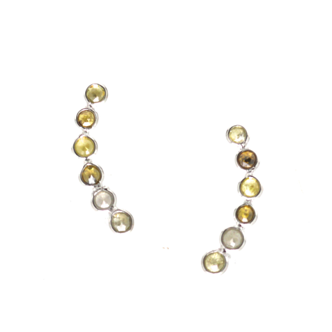 Organic Diamond Ear Climbers in 18k Yellow Gold